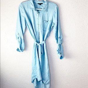 Banana republic chambray shirt dress sz 10